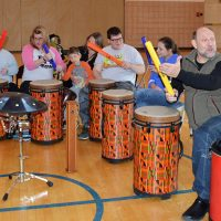 Drumming Together at Pathfinder School